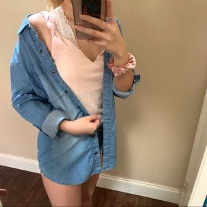 Medium Wash Chambray Top
